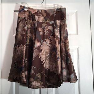 NWT Lauren Ralph Lauren Silk Floral Skirt